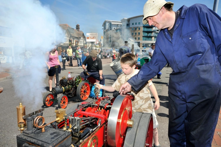 Age of steam comes to life at Poole's Mini Steam on the Quay