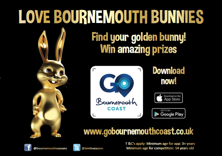 Find Bournemouth Bunnies, win up to £1000 Shopping Vouchers