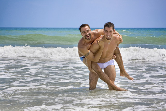 Guys on the Beach