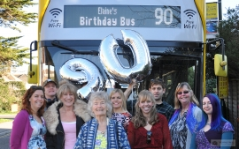 Double Decker Surprise for 90th Birthday