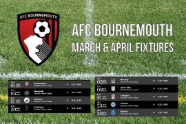 AFC  Bournemouth March & April 2016 Fixtures