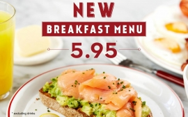 New £5.95 Breakfast Menu Available at Café Rouge