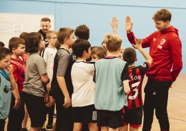 AFC Bournemouth star Jack Stacey joins youngsters at Premier League Kicks