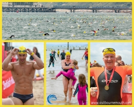 Thousands Swim Pier to Pier - 150 photos