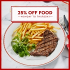 Voucher Code to get 25% off at Cafe Rouge this Monday to Thursday