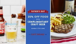How to get 25% off at Café Rouge for Father's Day