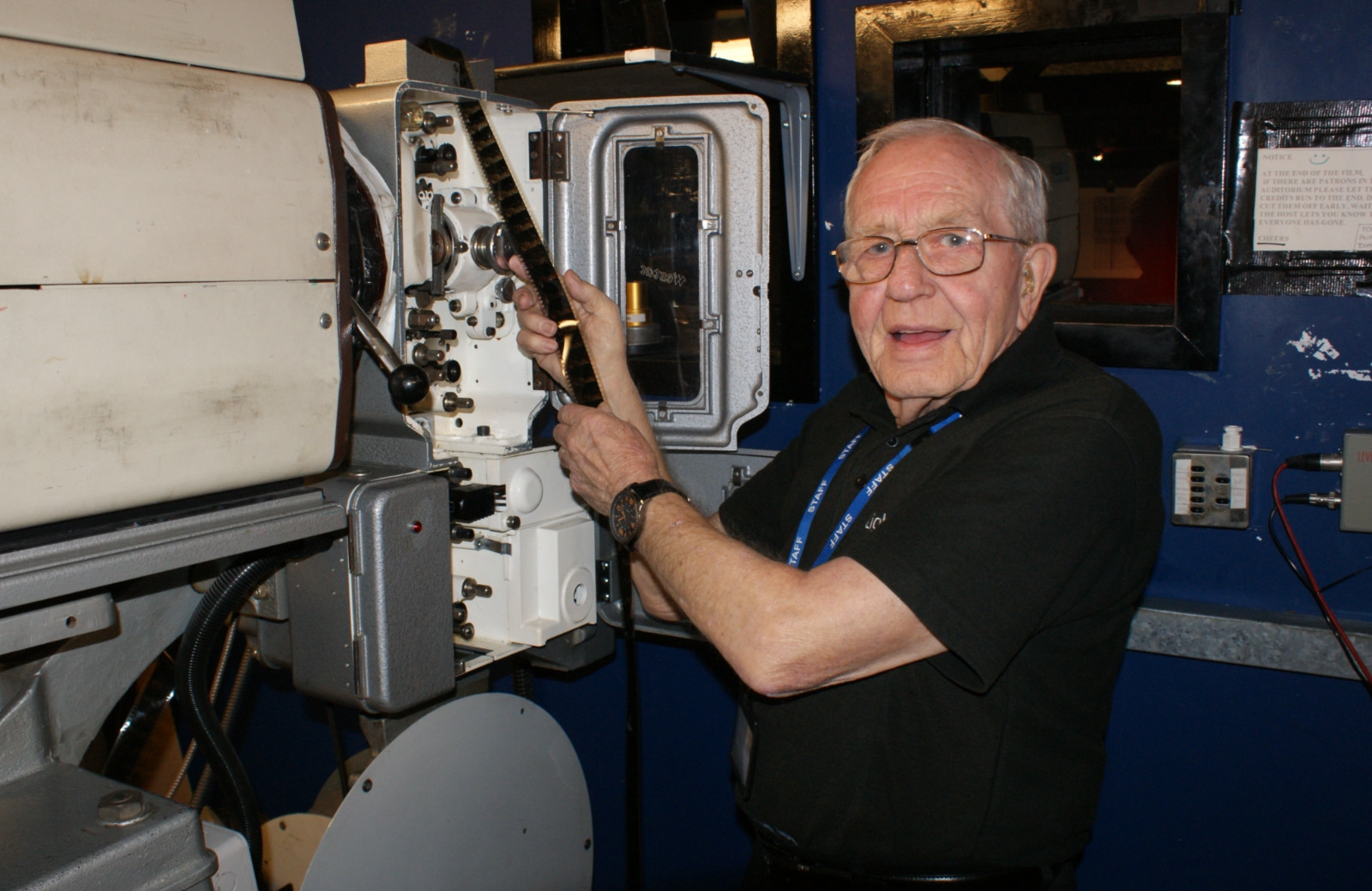 Is John, 82, Britain's oldest cinema projectionist?