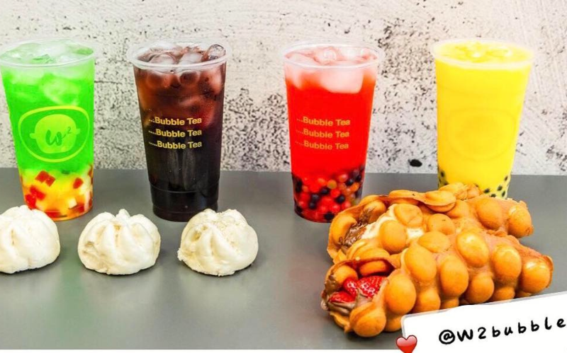 W2 Bubble Waffle and Bubble Tea